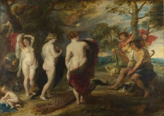 Rubens, Peter Paul: The Judgement of Paris. Fine Art Print/Poster. Sizes: A1/A2/A3/A4 (002120)